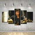Scarface2 Al Pacino Tony Montana Posters Impresión de la Lona de 5 Unidades con Enmarcado