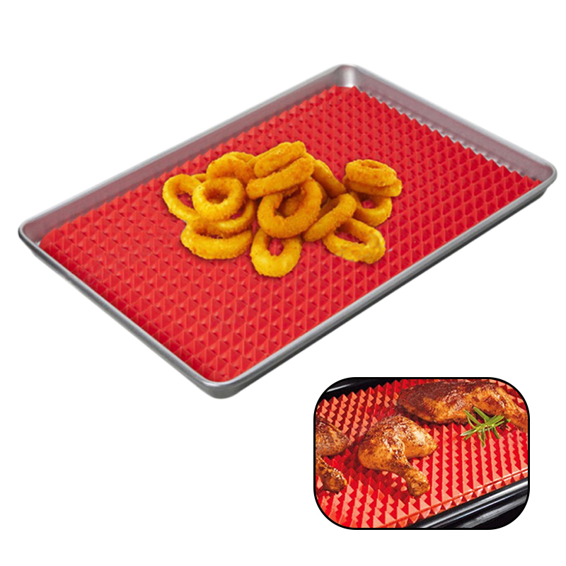 Khgdnor Silicone Microwave Oven Pad Red 17 17cm Roasting