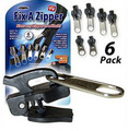 Smartlife 6 Pcs/Set Multifunction Fix A Black Zippers Zippers for Sewing Repair Replacement Zip Slider Teeth Rescue