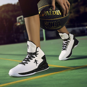 Image 5 - Man High top Basketball Shoes Mens Air Cushion Light Basketball Sneakers Anti skid Breathable Outdoor Sports Basketball Shoes
