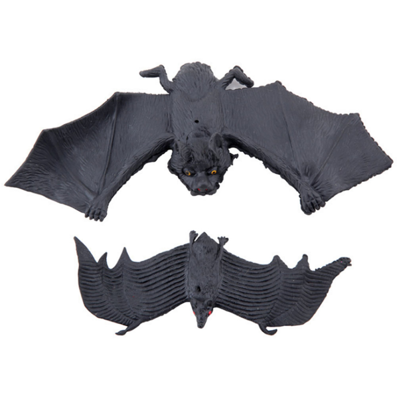 halloween decoration supplies imitation bat toy halloween tricky funny spoof toys soft imitation fake bat toy