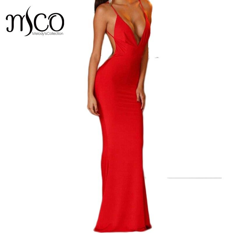 2017 Hot Sale Fashion Backless Trumpet Maxi Dress Off the Shoulder Elegant Party Women Vestidos Sexy V neck Dress