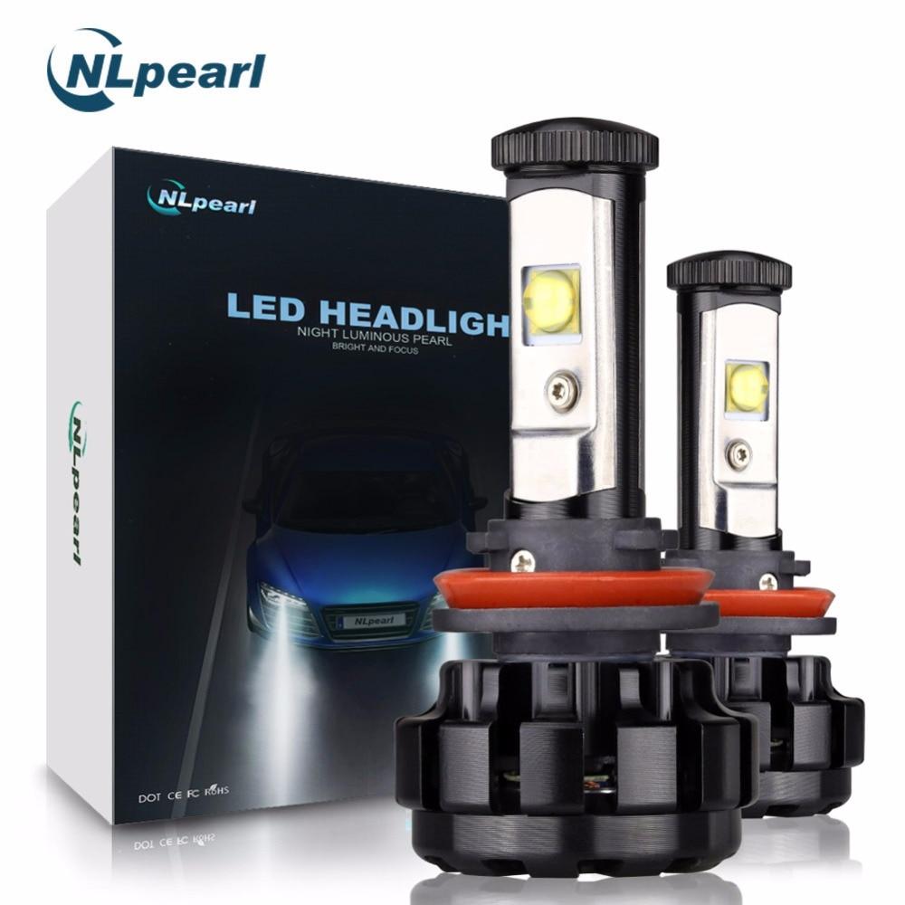 NLpearl High Quality 2Pcs 12000LM/Pair V18 with Cree Chip H11 LED Headlight Bulbs H7 H1 H3 9005 9006 H4 Super LED 6000k 12V