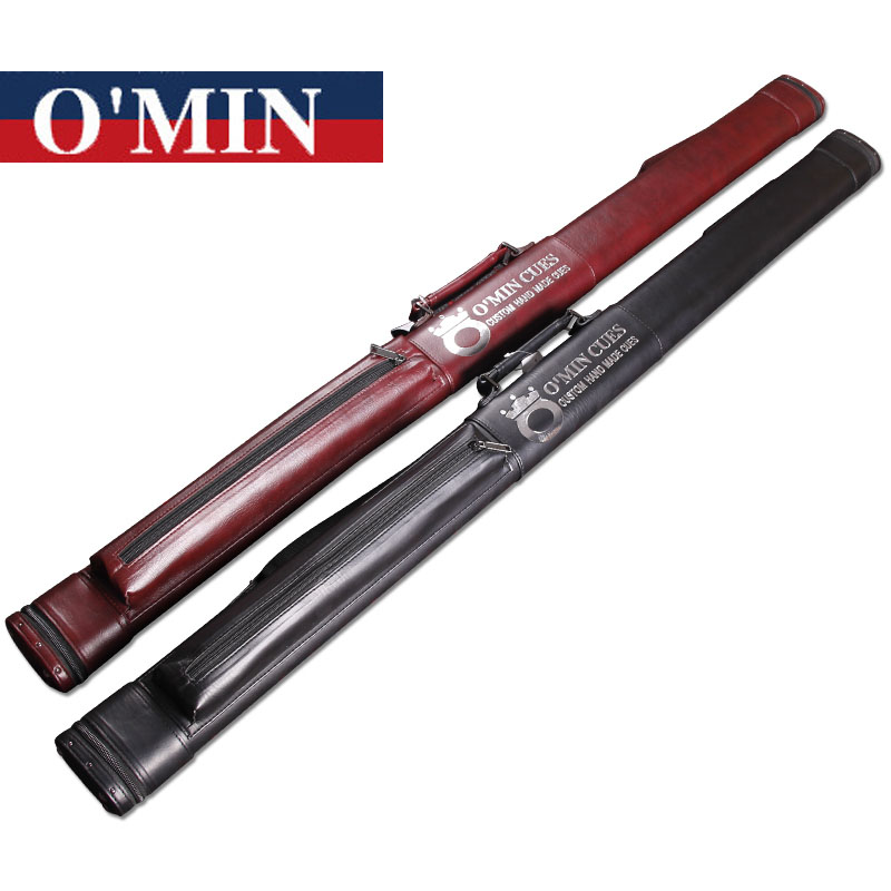 New Arrival Black Luxurious O Min PU Leather 3 4 Snooker Cue Cases Billiard Accessories Two