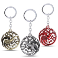 MS JEWELS Movie Gifts Jewelry Gifts 3D Game Of Thrones House Targaryen Keychain A Song of Ice and Fire Metal Key Rings Chaveiro