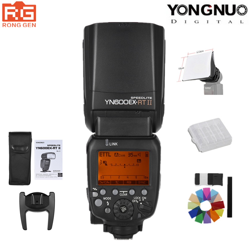 In Stock YONGNUO YN600EX RT II 2 4G Wireless HSS 1 8000s TTL Flash Speedlite for