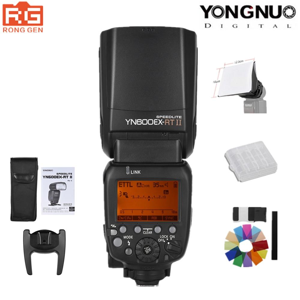 In Magazzino YONGNUO YN600EX-II 2.4G Wireless HSS 1/8000 s TTL Flash Speedlite per Canon Fotocamera REFLEX & YN-E3-RT Trigger Trasmettitore