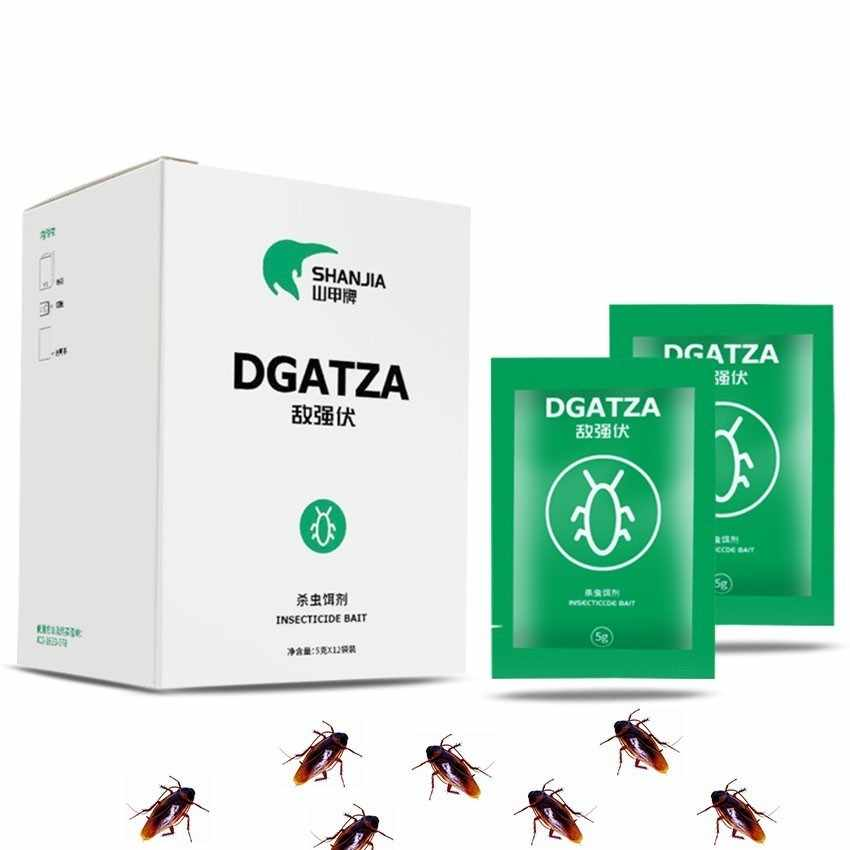 12PC/lot DGatza Cockroach Bait Powder Cockroaches Colony