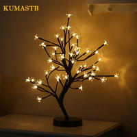 36 Heads Cherry Blossom Tree Night Lights Bed Room Plum Blossom Tree Lamp LED Rose Night