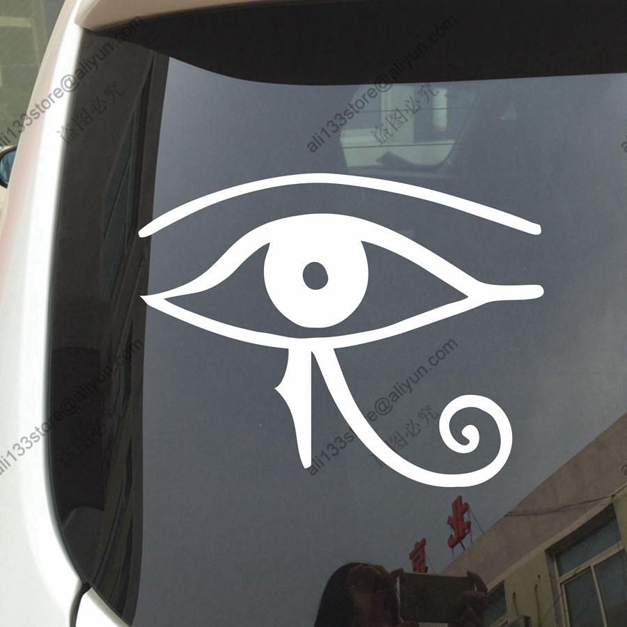 Eye of ra re car decal sticker vinyl horse egyptian god pagan eye of ra re car decal sticker vinyl horse egyptian god pagan symbol die cut no background pick color and size in car stickers from automobiles biocorpaavc