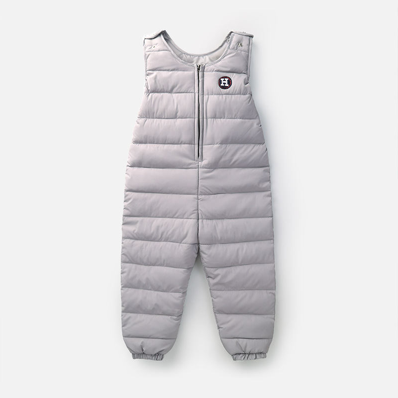 Winter Children Baby Down Pants Girls Boys Trousers Jacket Kids Baby Clothes Warm Strap Pants Fashion Windproof Down Trousers winter down pants for boys & girls children s fashion solid parka warm trousers casual elastic waist straight kids pants outwear