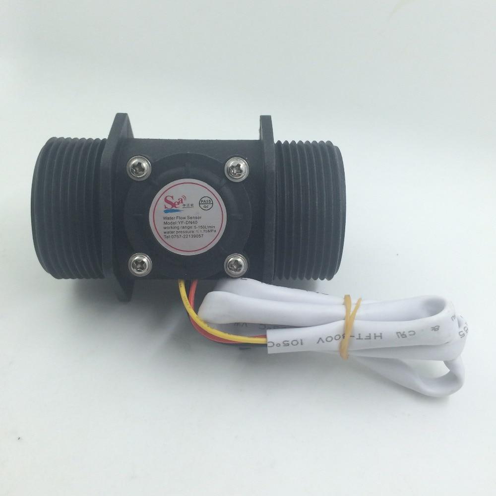 Débitmètre industriel de capteur de débit d'eau G1.5 débitmètre de débit d'eau compteur de capteur de Hall compteur G1.5 DN40 5-150L/min