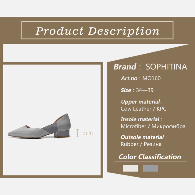 SOPHITINA Flats Women High Quality Patchwork Genuine Leather Fashion Pointed Toe Leisure Shoes Elegant Slip on