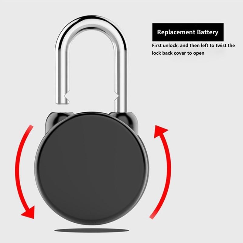 Bluetooth serrure intelligente Anti-vol alarme serrure pour vélo moto porte avec contrôle APP - 3