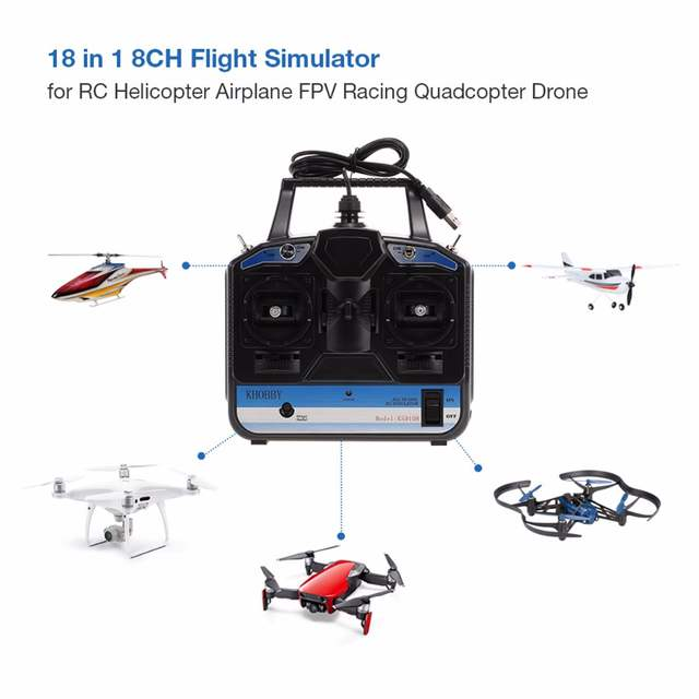DTXMX 8CH RC Flight Simulator support Realflight G7 Phoenix 5 0 XTR remote  control helicopter fixed-wing drone (MODE2)