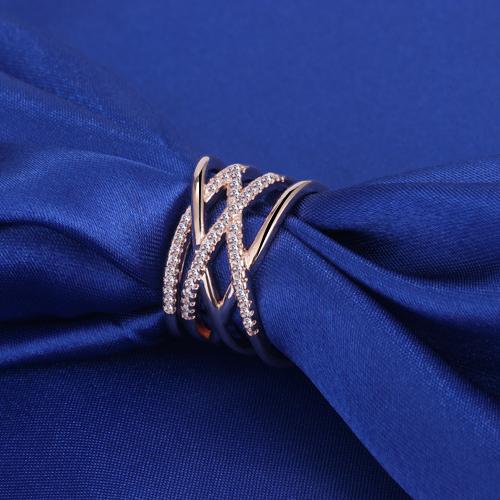 Austrian Crystal Braided Silver Cuff Ring