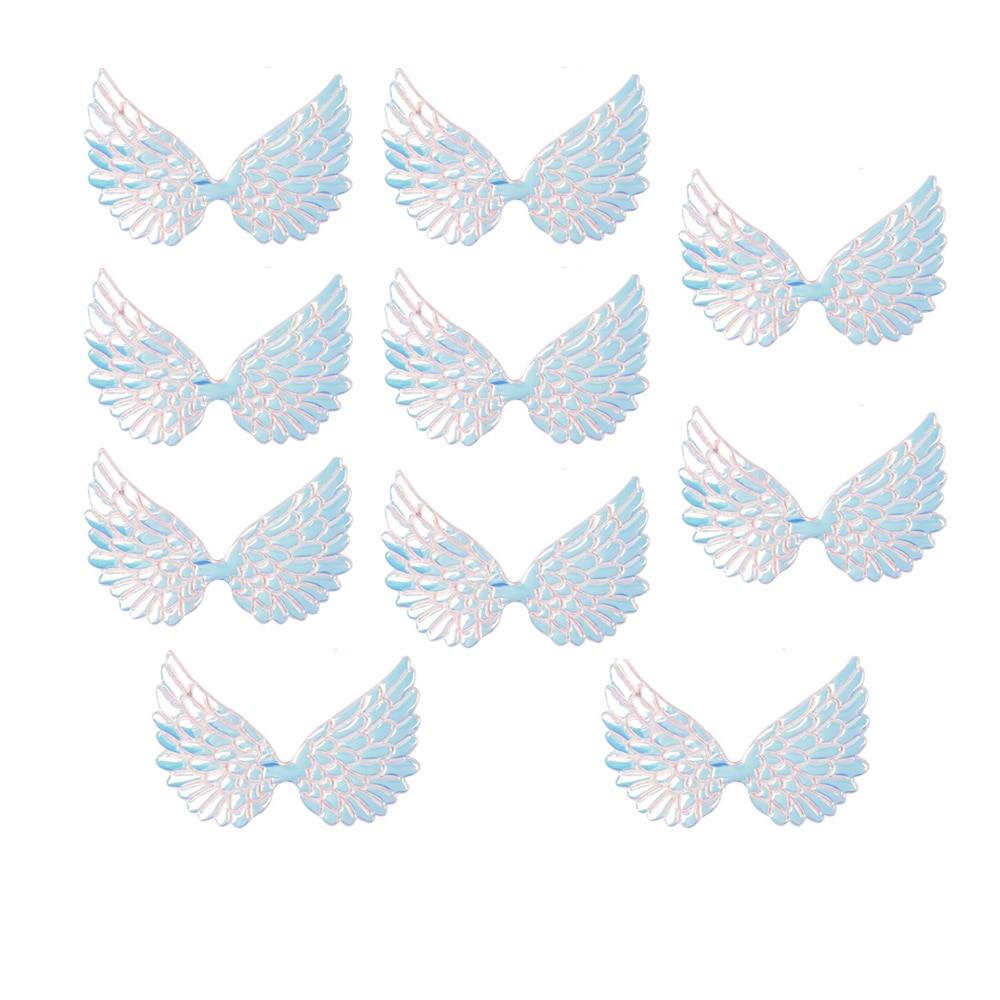 10 шт./пакет 95 мм нашивки крылья на одной стороне Радужная Фея Амур Крыло ангела аппликации Патчи DIY девочек банты на голову аксессуары