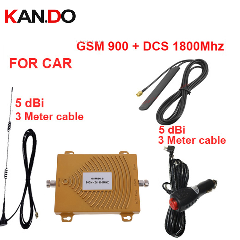 Car Booster Dual Band GSM900Mhz 1800Mhz Mobile Phone Signal Booster For Car,GSM DCS Signal Repeater Vehicle Use Signal Booster