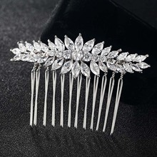 12pcs/lot Wholesale Zircon Hair Combs For Women Hairpins Tiara Rhinestone Head Jewelry for Gifts copper Woman Hair Combs Bijoux