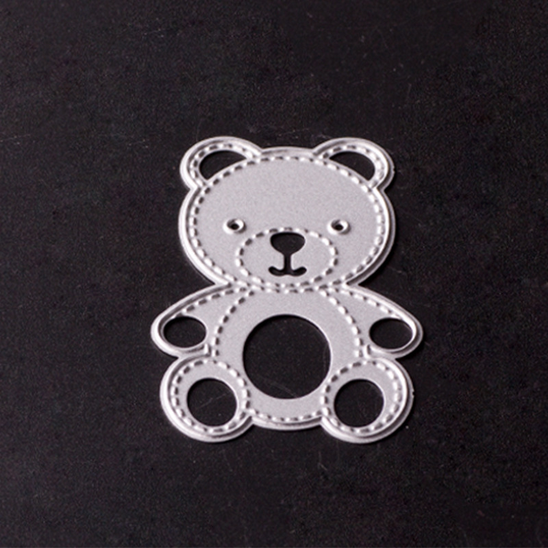 Teddy Bear Scrapbook dies for Decorative Embossing DIY carbon steel knife mold cutting template die cutter DC-20