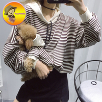 New Arrivals Family French Bulldog Clothing For Pet T Shirt Cat Striped Hoodie Hoodies Dog Coat