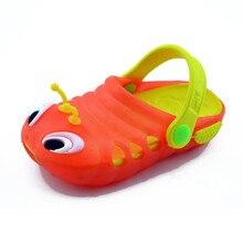 Дети Сабо лето мультфильм пчела детская обувь отверстие садовые Сабо гусеницы шлёпанцы для женщин пляжные сандалии маленькие девочки и мальчики направляющие