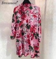 High Quality long sleeve dress autumn cheongsam dress retro fashion China wind lady cheongsam dress