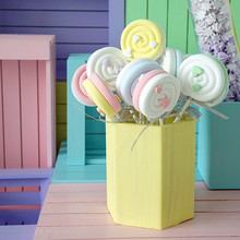Simulated lollipop Marshmallow props Love two-color color matching lollipop Children's photography props window