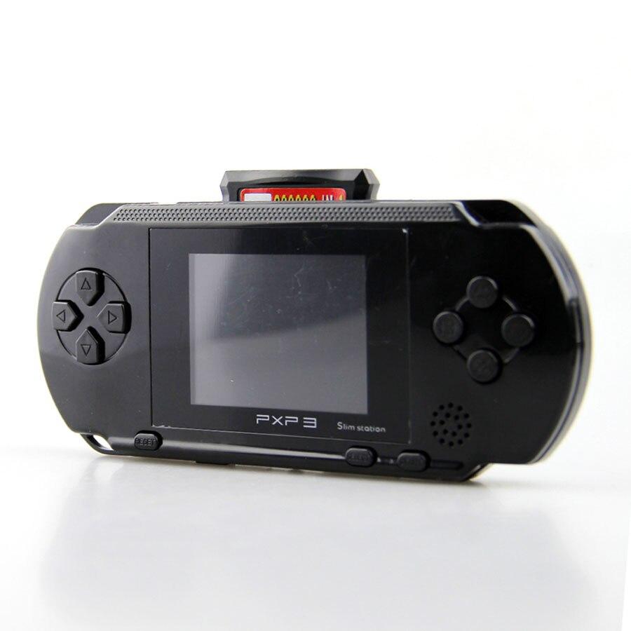 Portátil de 16 Bits PXP3 Handheld Game Player Video Game Console com Cabo AV + 2 Cartões de Jogo Jogos de Criança Clássica Estação PXP 3 Fino