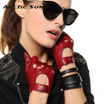 Hot Sale New Women Leather Gloves Nappa Sheepskin Solid Wrist Breathable Real Genuine Fashion Driving Glove Free Shipping EL041N top quality women gloves wrist short genuine leather glove female winter thermal sheepskin for driving free shipping el031nr