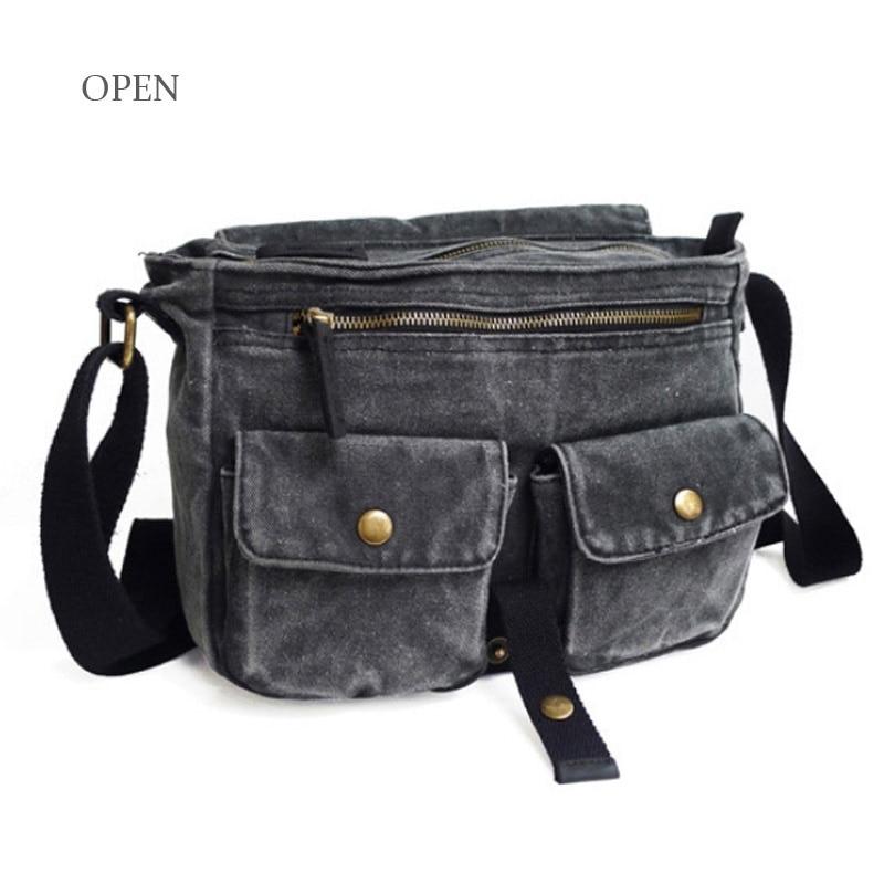 d6026b51a50b New Arrival Fashion Men Canvas Bags Casual Messenger Zip Men Side ...
