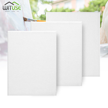 1Piece White Cotton Blank Square Artist Canvas For Canvas Oil Painting DIY Wooden Board Frame For Primed Oil Acrylic Paint 10m linen blend primed blank canvas paper for painting coarse grained oil painting canvasoil painting canvas paper