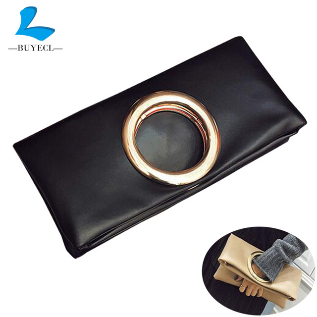 BUYECL женской Моды клатч кожа женщины конверт мешок сцепления вечерние сумки женские Клатчи Сумочка бесплатная доставка Сумки