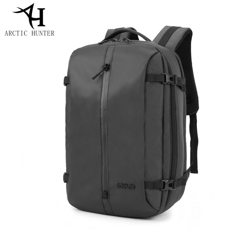 ARCTIC HUNTER Fashion Business Men backpacks Large Capacity Waterproof Strap Laptop Notebook Backpack School Computer Bags Black