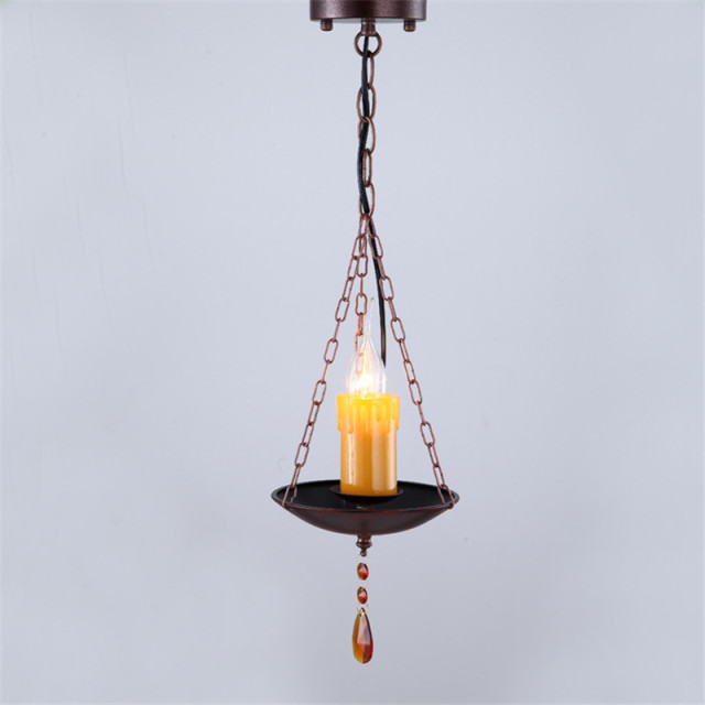 Retro Vintage Candle Pendant Lamp Drop Light Living Room Bar Shop Lighting Loft Industrial