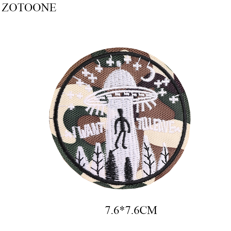 ZOTOONE Unicorn Cat Patches Diy Round Stickers Iron on Clothes Heat Transfer Applique Embroidered Applications Cloth Fabric G in Patches from Home Garden
