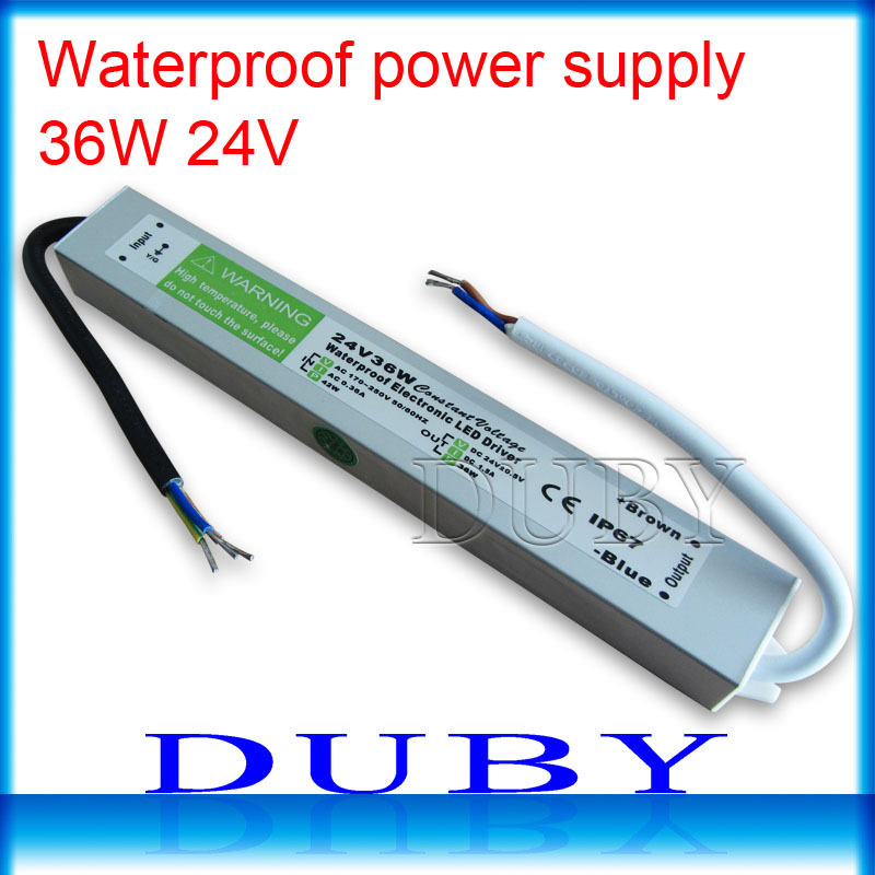 Waterproof Lighting LED Driver Transformer Power Supply AC110-260V to DC12V/24V 10W 20W  ...