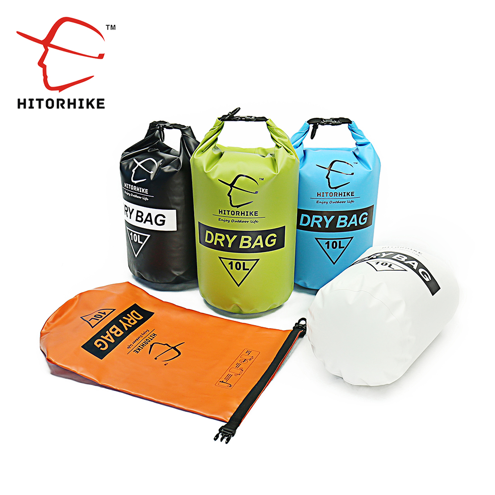 Baru HITORHIKE 10L Professional Waterproof Dry Bag Pouch Camping Boating Kayaking Rafting Berkanu Berenang Tas Backpack Stuff