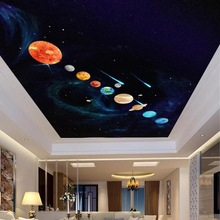 9 pcs Planet DIY Wall Sticker PVC Tahan Air Bercahaya Planet Bersinar Dalam Gelap Wall Stiker Kids Room Decor