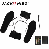 JACKSHIBO Men Women Heated Shoe Inserts Winter Heated Insoles Electric Powered Insoles For Shoes Boot Keep