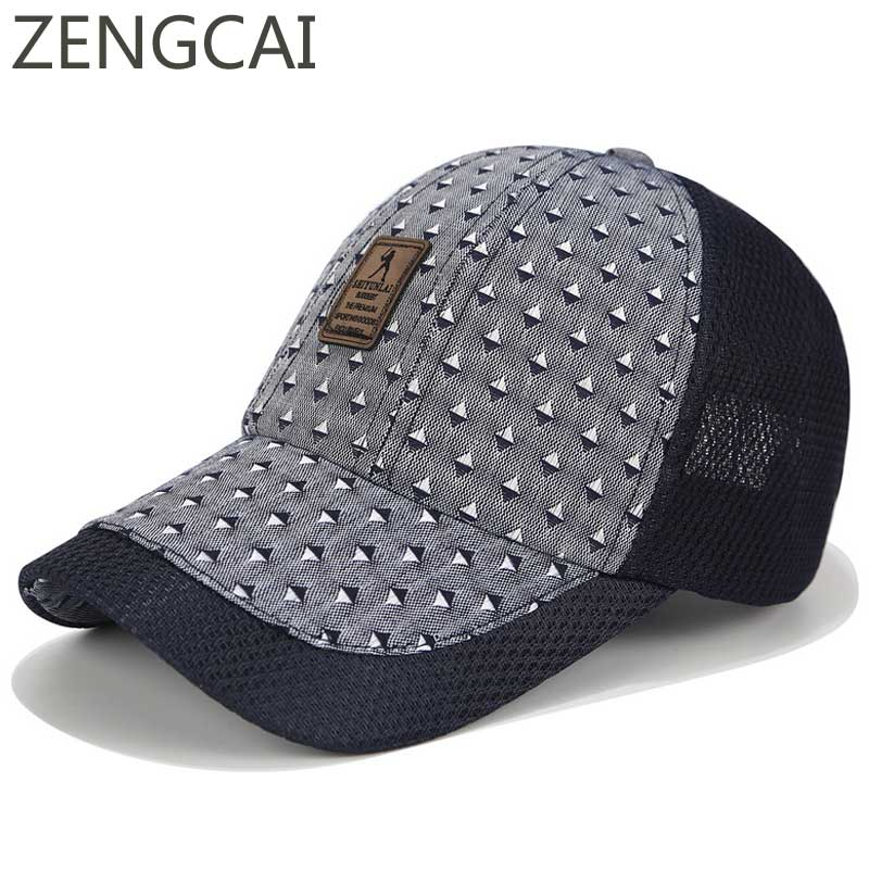 2018 Summer Cap Men Print Baseball Caps Mesh Trucker Hats For Women Sun Visor Golf Dad Hat Casual Outdoor Sports Snapback Cap 2018 cc denim ponytail baseball cap snapback dad hat women summer mesh trucker hats messy bun sequin shine hip hop caps casual