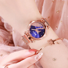 купить Fashion Luxury Ladies Watches Waterproof Rose Gold Steel Mesh Quartz Women Watches Top Brand Clock Relogio Feminino по цене 101.72 рублей