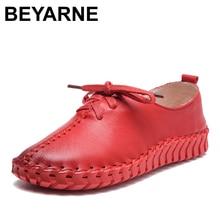 BEYARNE Handmade leather flat shoes women