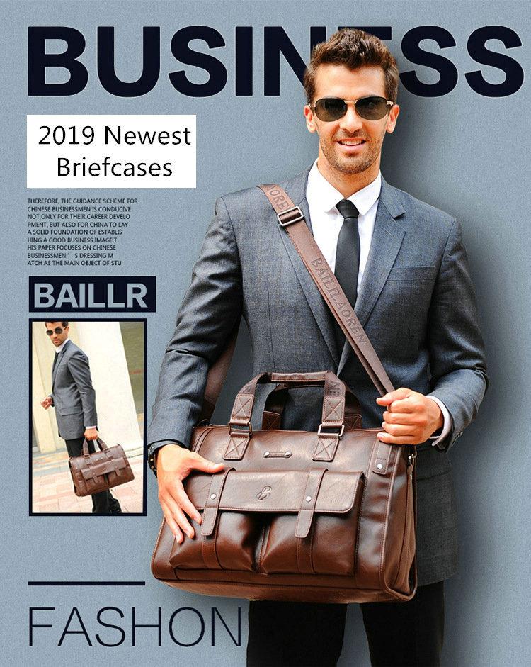 HTB1UGOOXvc3T1VjSZLeq6zZsVXaI 2019 Men Leather Black Briefcase Business Handbag Messenger Bags Male Vintage Shoulder Bag Men's Large Laptop Travel Bags Hot