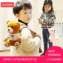 Flask  Thermos Cup Kids Mug With Straw Cover Stainless Steel Insulated Water for Bottle Vacuum Flask Tumbler With Bear Sleev цена и фото