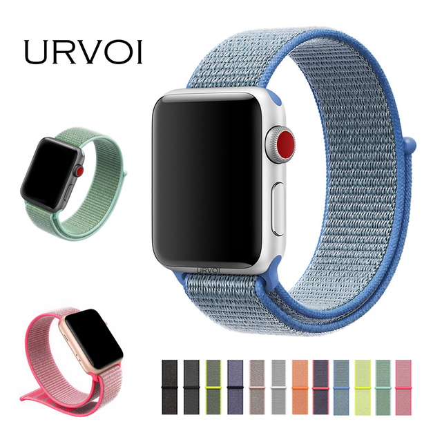 e6720592863 URVOI Spring 2018 Sport loop for apple watch series 3 2 1 band strap for  iwatch double-layer woven nylon breathabe hook fastener