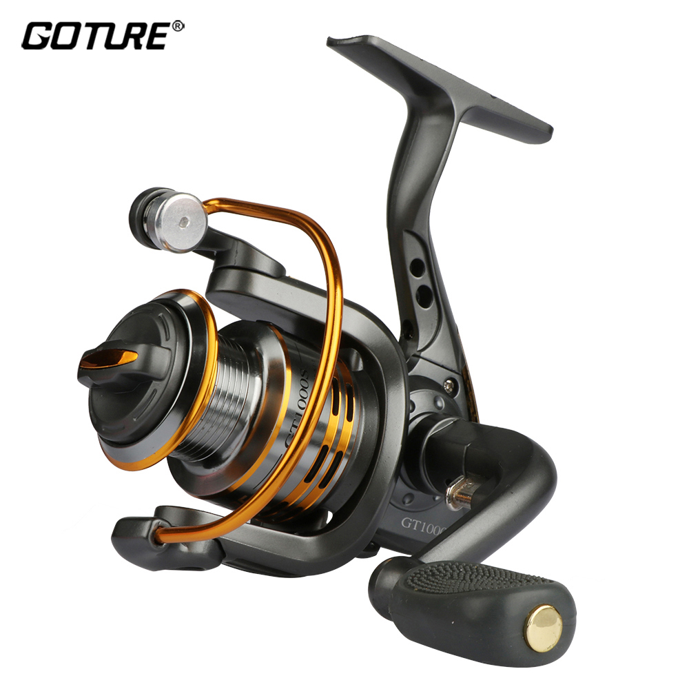 Geture Spinning Fishing Reel Metal Spool Coil 6BB Untuk Roda Perikanan Air Tawar Air Tawar 500 1000 2000 3000 4000 5000 6000