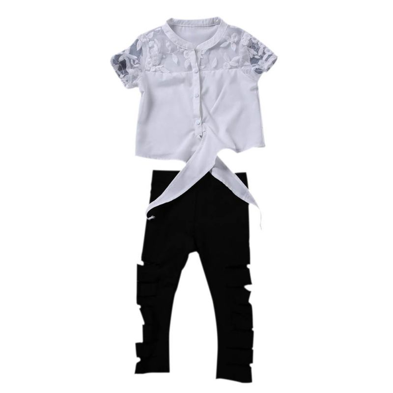 Kids Hollow shirt Hole pants Baby Girls Clothes Sets 2PCS Letter Tops T-shirt Hollow Out Pants New Summer Outfits Set Kids Hollow shirt Hole pants Baby Girls Clothes Sets 2PCS Letter Tops T-shirt Hollow Out Pants New Summer Outfits Set