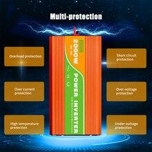 Pure Sine Wave Inverter Intelligent Control High Frequency Surge Peak Power Watt Power Inverter USB 300/500/600/800/1000/2000W