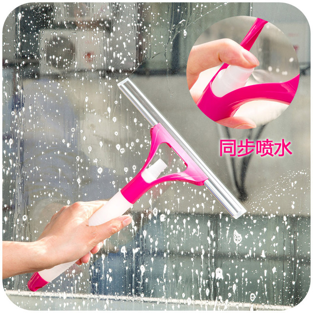 Creative multipurpose integrated spray cleaning appliances, glass blowing scraping floor tile car brush K4819